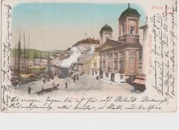 UN SALUTO DA TRIESTE GRUSS AUS TRIEST RIVA CARCIOTTI ANIMATA E TRENO ANNO 1899? - Trieste