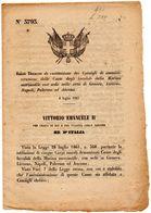 1867  DECRETO  INVALIDI MARINA MERCANTILE - Decreti & Leggi