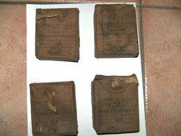 4 Boites Vides Pour Cartouche 6.5 Carcano Datées 1942 - Armes Neutralisées