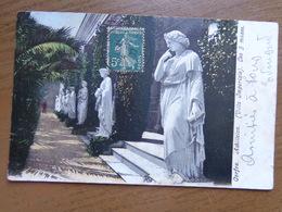 Griekenland - Greece / Corfou, Achilleion, Les 9 Muses --> Written - Grèce