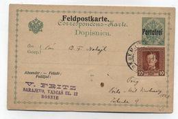 Austria FELDPOSTKARTE PORTOFREI BOSNIEN - 1850-1918 Empire