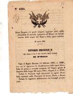 1868   DECRETO  COL QUALE VENGONO AGGIUNTE ALTRE OPERE IDRAULICHE - Decreti & Leggi