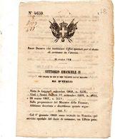 1868   DECRETO  CHE ISTITUISCE - Decreti & Leggi
