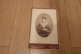 PHOTO ORIGINALE CABINET ALPHONSE LEENAERTS MARIN MATELOT MAGENTA 46, BD. STRASBOURG TOULON - Ancianas (antes De 1900)