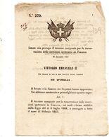 1861   DECRETO CHE PROROGA IL TERMINE PER LE ISCRIZIONI  IPOTECARIE  IN TOSCANA - Decreti & Leggi