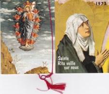 2 Calendriers : Sainte Rita Veille Sur Nous. 1983 & 1973 - Calendars