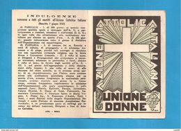TESSERA AZIONE CATTOLICA ITALIANA DONNE   1938 DIOCESI BISTAGNO ACQUI ASTI - Organizzazioni