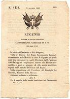 1860  DECRETO  REGOLAMENTI MARINA MERCANTILE - Decreti & Leggi
