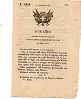 1860  DECRETO  ISTITUITA UNA  CAPITANERIA DI PORTO IN  ANCONA - Decreti & Leggi