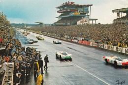 LE MANS. Circuit Des 24heures Du Mans. Le Démarrage Des Voitures. Flamme - Le Mans