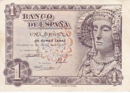 BILLETE DE 1 PTA DEL AÑO 1948 SERIE A CALIDAD EBC (XF)  DAMA DE ELCHE  (BANKNOTE) - [ 3] 1936-1975 : Regency Of Franco