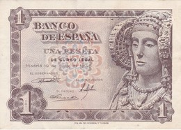 BILLETE DE 1 PTA DEL AÑO 1948 SERIE G CALIDAD MBC (VF)  DAMA DE ELCHE  (BANKNOTE) - [ 3] 1936-1975 : Régence De Franco