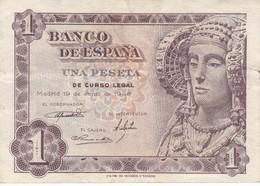 BILLETE DE 1 PTA DEL AÑO 1948 SERIE J CALIDAD MBC (VF)  DAMA DE ELCHE  (BANKNOTE) - [ 3] 1936-1975 : Regency Of Franco