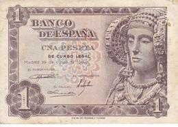 BILLETE DE 1 PTA DEL AÑO 1948 SERIE M CALIDAD EBC (XF)  DAMA DE ELCHE  (BANKNOTE) - [ 3] 1936-1975 : Régence De Franco