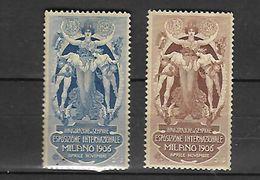 ITALIE - MILAN / 1906 VIGNETTES   DE L EXPOSITION INTERNATIONALE ** - Erinnophilie