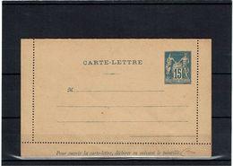 CTN27 - CARTE LETTRE SAGE 15c STORCH J12 UN PEU FROISSEE - Letter Cards