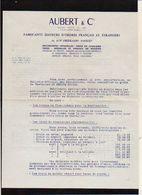 """1960 Correspondance Tarifs """"Aubert & Cie """" Fabriquant De Médailles,Insignes,Drapeaux,Fanions...à Paris 11 - Francia"""