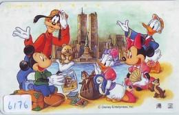TC Japon DISNEY / 110-179029 A2 - Série Voyage 15/16  NEW YORK WTC PISA Liberté Ecureuil (6176) Moai Chile Manchot Japan - Disney