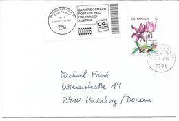 """4173d: Abo- Treuemarken """"Hundszahnlilie"""" Aus 2014, Portorichtig Gelaufen Kleiner Post-Partner 2294 Marchegg- Bahnhof - Orchideen"""