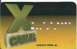 TARJETA TELEVISION CANAL X - Tarjetas Telefónicas