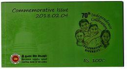 Sri Lanka - 1000 Rupees 2018 UNC In Folder Commemorative Lemberg-Zp - Sri Lanka