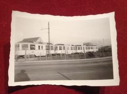 Foto Köln Porz Rhein Straßenbahn Tram Ca. 1950 Foto Hamacher Agfa Lupex - Eisenbahnverkehr
