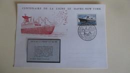 Pigeongramme Du Paquebot FRANCE Pour Le Centenaire De La Ligne Le Havre-New-york (trés Rare ) - Unclassified