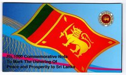 Sri Lanka - 1000 Rupees 2009 UNC In Folder P. 122b Commemorative Lemberg-Zp - Sri Lanka