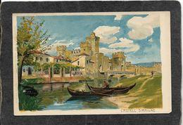 Brescia,No Italy-Castell Sirmione 1897 - Antique Postcard - Altri