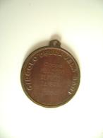 1954 Coppa MED. D'ORO ALFREDO ZAMBRINI  MILITARE MARINA  CIRCOLO DELLA VELA BARI  CANOA REMI REGATA SPORT MEDAGLIA MEDAL - Remo