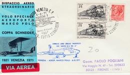 Venezia Firenze Con Macchi MB 326 1971 - Dispaccio Aereo - 6. 1946-.. Repubblica