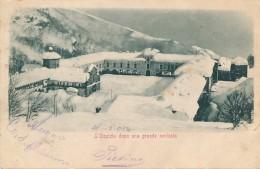 T.259.  OROPA - L'Ospizio Dopo Una Grande Nevicata - 1904 - Italië