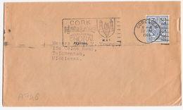 A746 - Lettre D'Irlande De 1965 - Croix Celtique - Oblitérée à Cork 22/04/1965 Cachet Chorale - 1949-... République D'Irlande