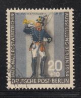 Germany  Berlin 1954 Used Scott #9NB12 20pf + 10pf Prussian Postilion - [5] Berlin