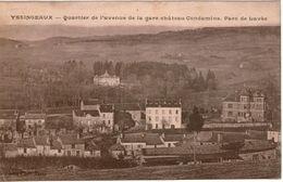 Cpa 43 YSSINGEAUX Quartier De L'Avenue De La Gare Château Condamine Parc De Lavée +Rare Cachet Convoyeur De Ligne+ - Yssingeaux