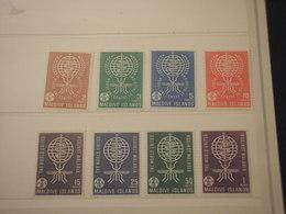 MALDIVES - 1962 MALARIA/SERPENTE 8 VALORI - NUOVI(++) - Maldive (1965-...)