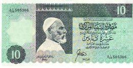 Libya P.56 10 Dinars 1989 Unc - Libië