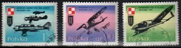 Poland 1971 Planes And Polish Air Force Mi 2119-21- Used Gestempelt - Usados