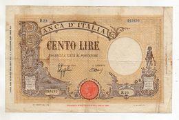 Italia - Regno - Banconota Da Lire 100 - BARBETTI - TESTINA - Fascio - Azzolini-Urbini - Decreto 15.03.1943 - (FDC8528) - 100 Lire