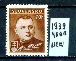 SLOVACCHIA - Year 1939 - Nuovo - News - Fraiche - Frisch - MNH **. - Nuovi