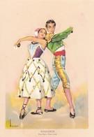 Postcard Folklore Espanol Panaderos Elvira Real Y Alberto Lorca My Ref  B11960 - Dances