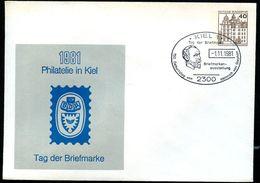 Bund PU111 C2/022 Privat-Umschlag PHILATELIE KIEL Tag Der Briefmarke Sost. Heinrich V. Stephan 1981 - Post