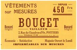 V  Bo/Buvard Vétements Bourget  (Format 21 X 14) (N= 1) - Blotters