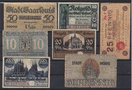 ALLEMAGNE - LOT De 7 BILLETS - Lot 2 - [ 3] 1918-1933 : République De Weimar