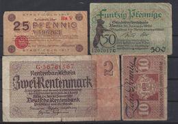 ALLEMAGNE - LOT De 4 BILLETS - Lot 3 - [ 3] 1918-1933 : République De Weimar