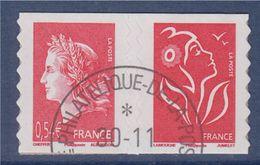 =Marianne De Cheffer Et Marianne De Lamouche Issus Du Carnet Autocollant P139 (139 Et 49b) Oblitérés ( Ex 3744b Et 4109) - France