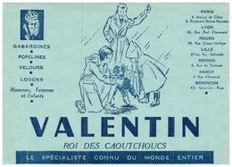 V  V/Buvard Vétements Valentin  (Format 21 X 14) (N= 1) - Blotters