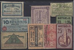ALLEMAGNE - LOT De 9 BILLETS - Lot 4 - [ 3] 1918-1933 : República De Weimar