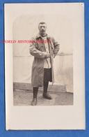 CPA Photo - Portrait D'un Poilu Du 1er Régiment à Identifier - Aviation ? Voir Patch Sur Bras à Gauche - WW1 Brassard - Guerre 1914-18