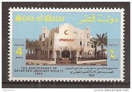 Qatar - 1989 - 10e Anniv. De La Société Du  Croissant-Rouge Du Qatar - N/O - Qatar